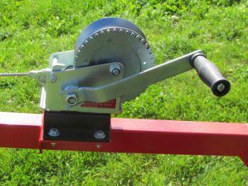 Equipo de cabestrante manual para ATV transporte de troncos
