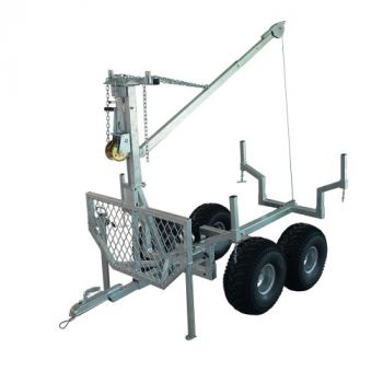 Remolque ATV para madera