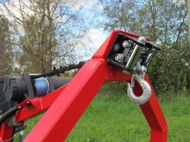 Equipo de cabestrante eléctrico para ATV transporte de troncos