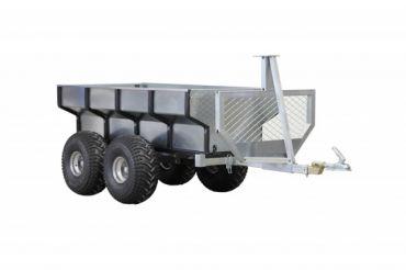 Remolque ATV para madera + caja de carga