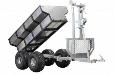 Remolque ATV para madera + caja de carga + grúa