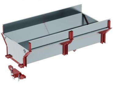 Caja de cargo ATV remolque para madera