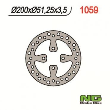 Disco de freno trasero para YFZ450 06-08, YFM700 Raptor 06-08