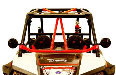 "DRAGONFIRE Race ""Flying V"" Barra delantera roja - Polaris RZR"