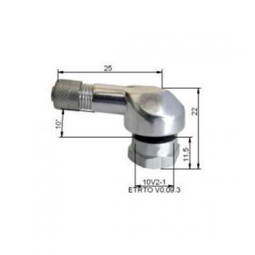Válvulas de neumático Alu Ø11,5mm Plata