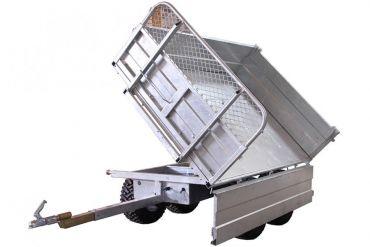 Remolque basculante: capacidad de 1500 kg con una opción de inclinación de 3 vías