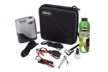 Kit de reparación Moto SLIME con compresor y sellante de neumático