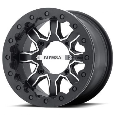 MSA OFFROAD WHEELS F1 R-FORGED BEADLOCK MACHINED SATIN BLACK
